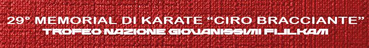 Memorial Karate Ciro Bracciante